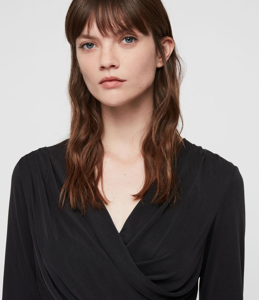 Damen Sofia Jersey Kleid (washed_black) - Image 2