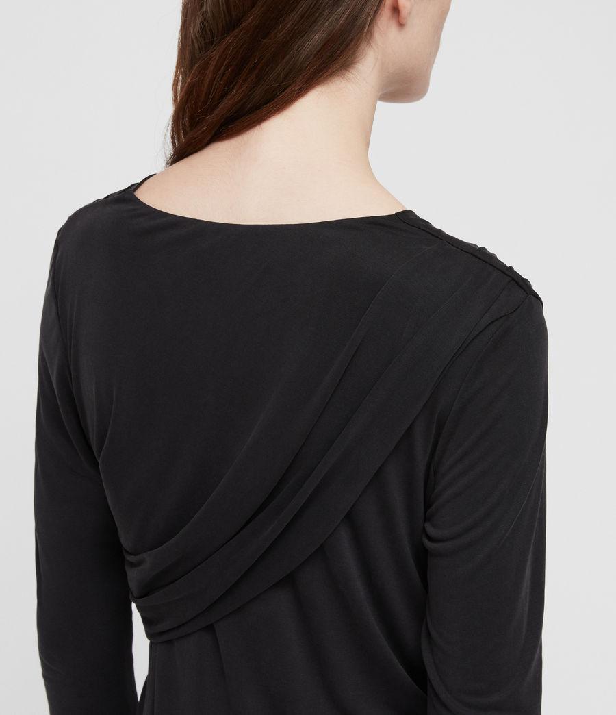 Damen Sofia Jersey Kleid (washed_black) - Image 3