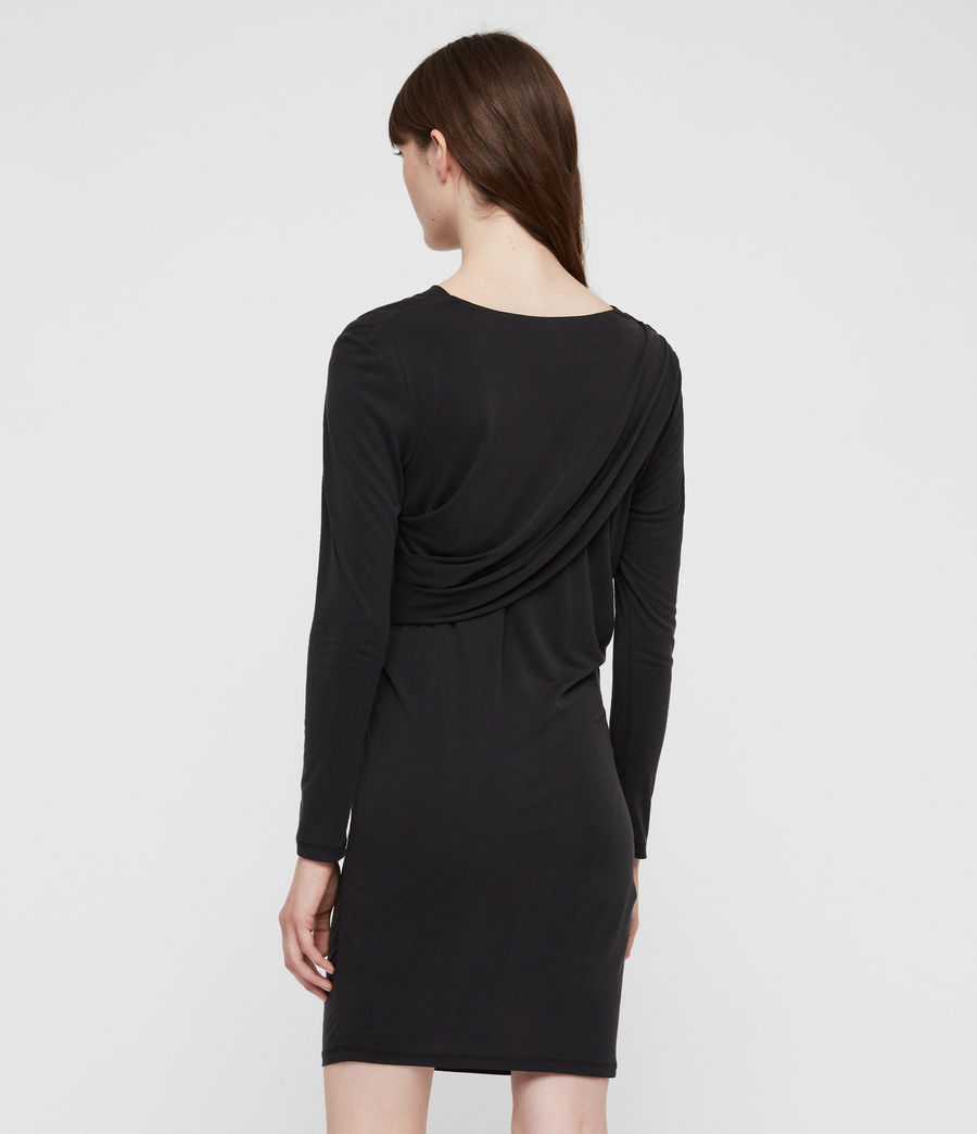 Damen Sofia Jersey Kleid (washed_black) - Image 5
