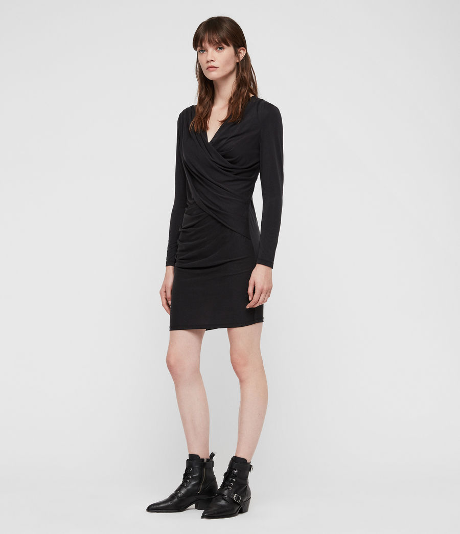 Women's Sofia Jersey Dress (black) - Image 1
