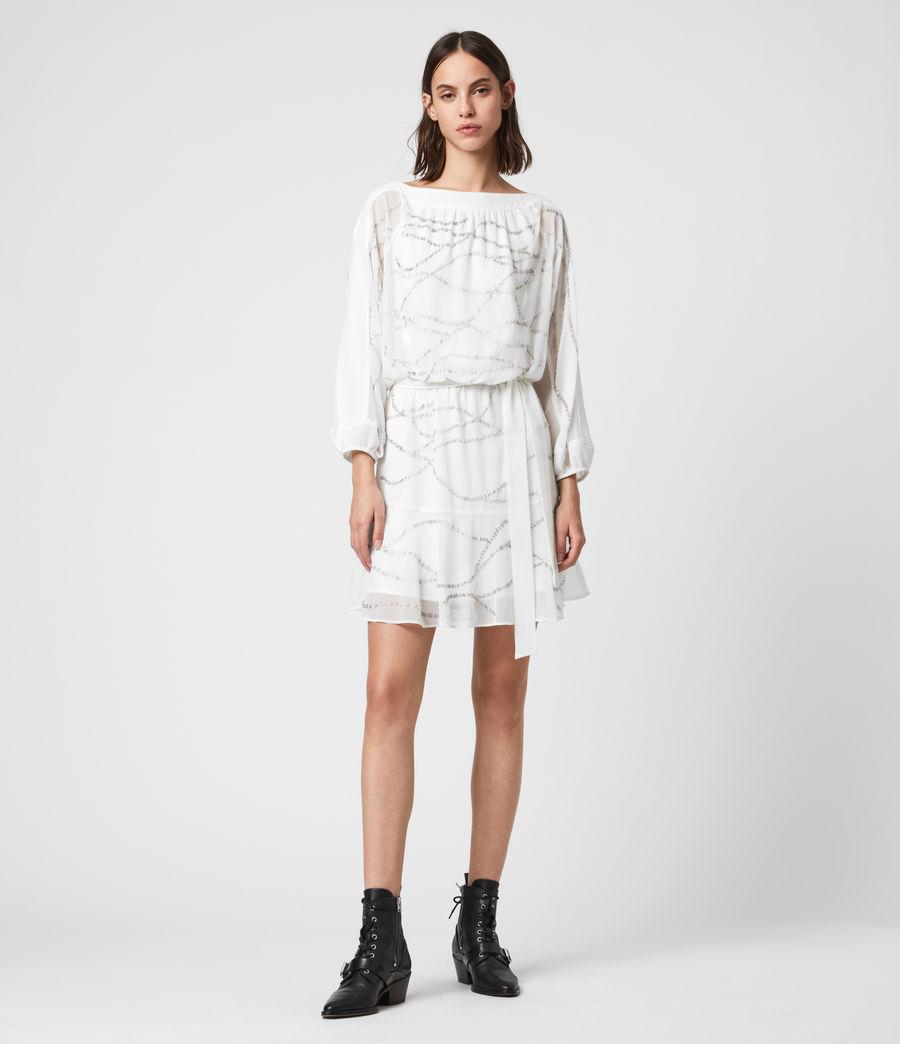 Womens Laci Embellished Dress (chalk_white) - Image 1