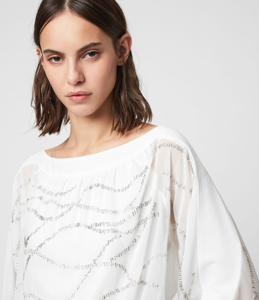 Womens Laci Embellished Dress (chalk_white) - Image 2