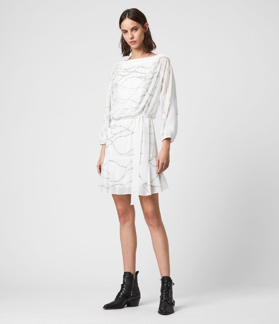 Womens Laci Embellished Dress (chalk_white) - Image 3