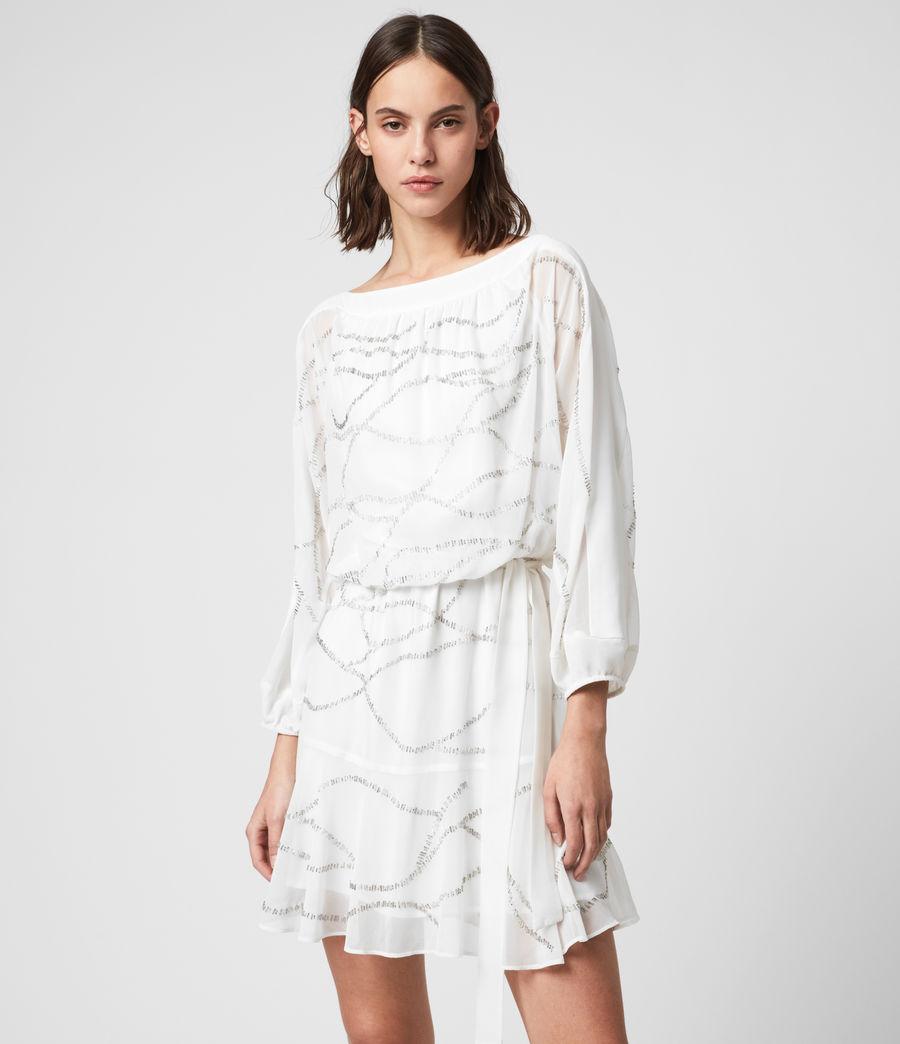 Womens Laci Embellished Dress (chalk_white) - Image 4