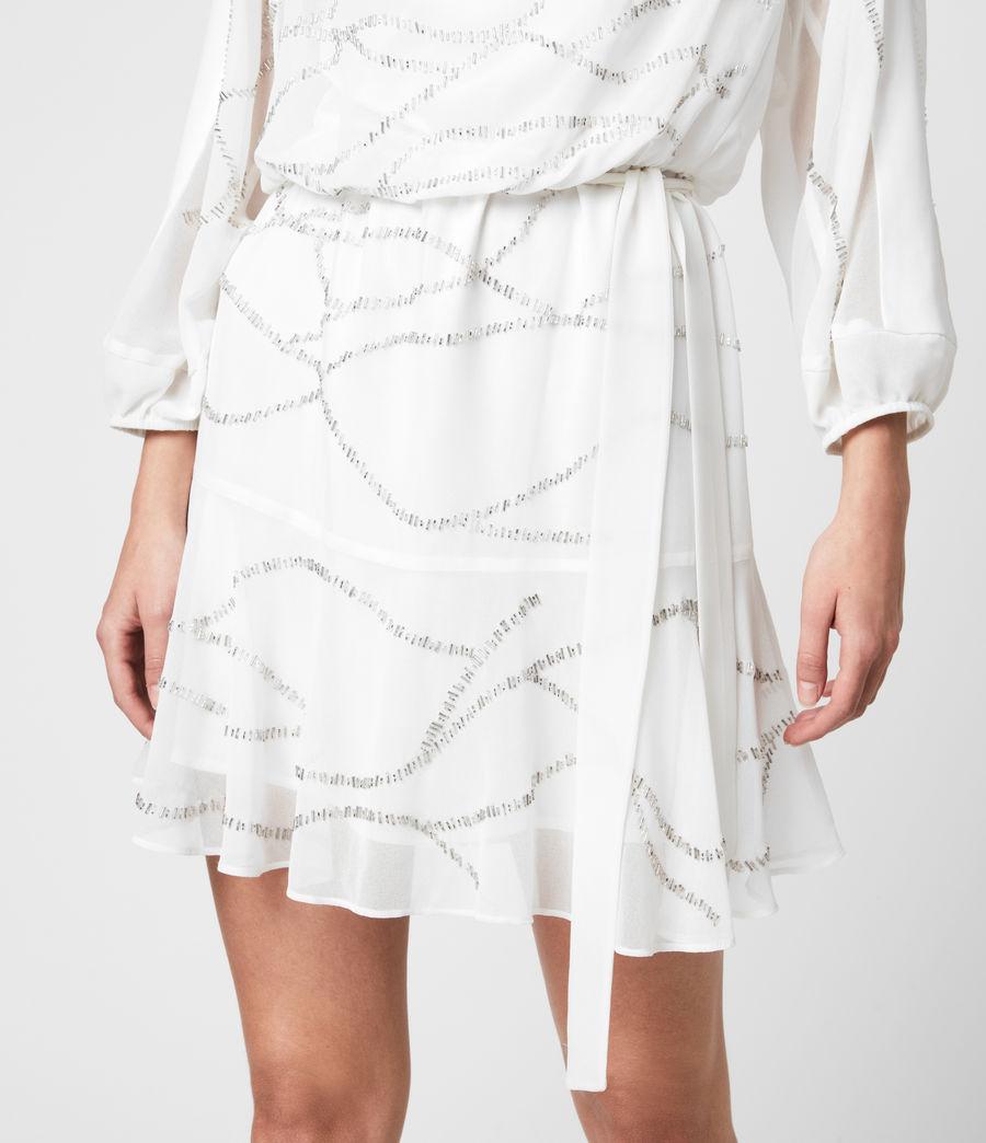 Womens Laci Embellished Dress (chalk_white) - Image 5