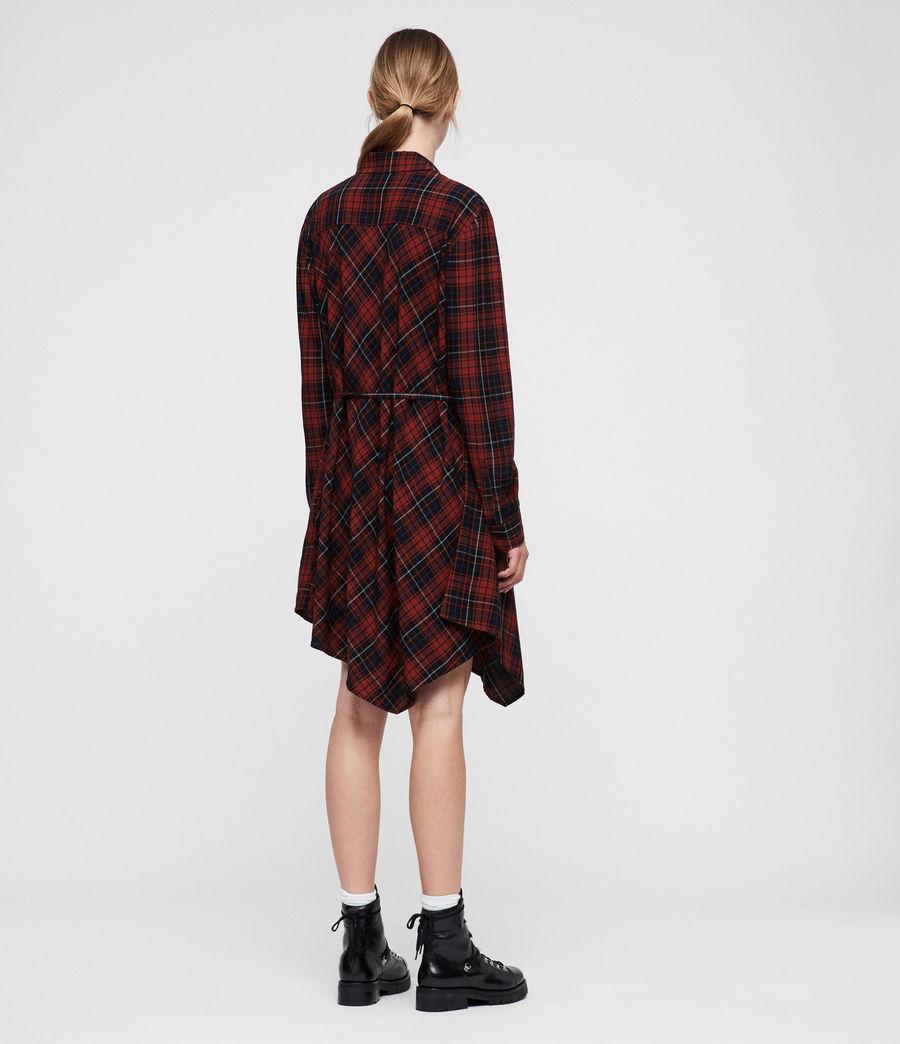 Women's Tala Shirt Dress (red_check) - Image 5