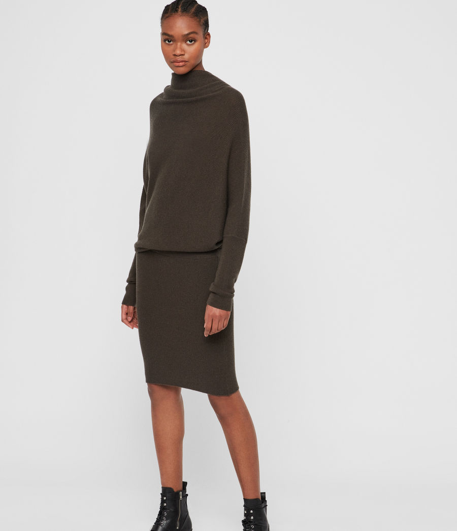 Women's Ridley Cashmere Blend Dress (khaki_green) - Image 1