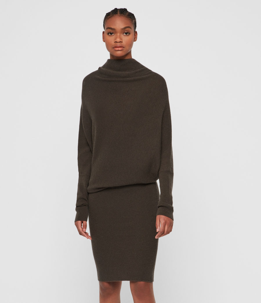 Women's Ridley Cashmere Blend Dress (khaki_green) - Image 4