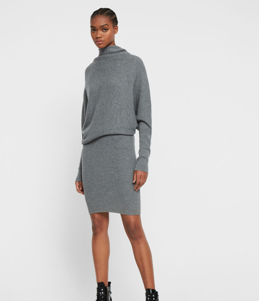 Womens Ridley Cashmere Blend Dress (mid_grey_marl) - Image 1
