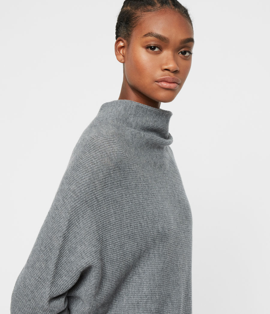 Womens Ridley Cashmere Blend Dress (mid_grey_marl) - Image 2