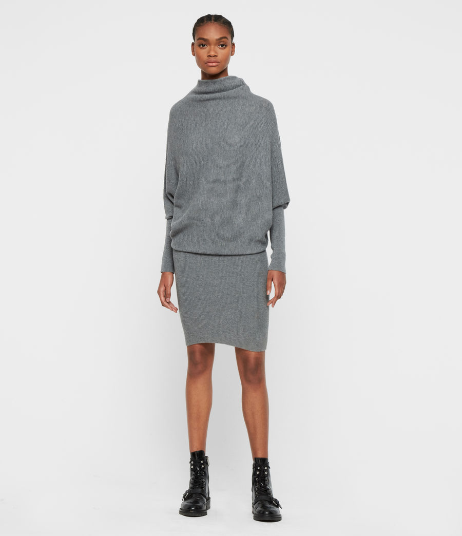 Womens Ridley Cashmere Blend Dress (mid_grey_marl) - Image 3