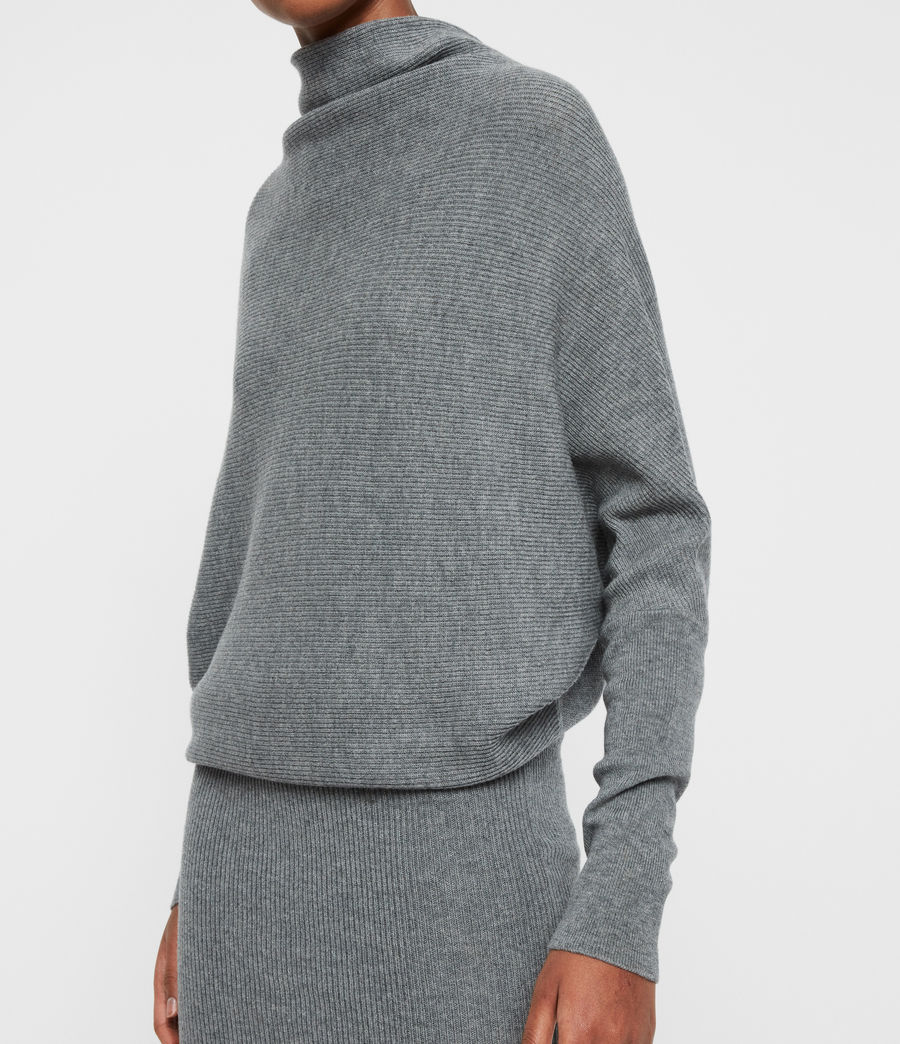 Womens Ridley Cashmere Blend Dress (mid_grey_marl) - Image 4