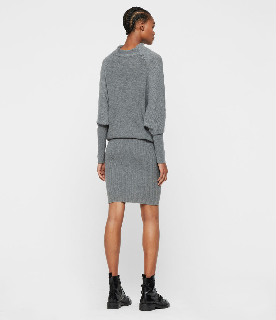 Womens Ridley Cashmere Blend Dress (mid_grey_marl) - Image 5