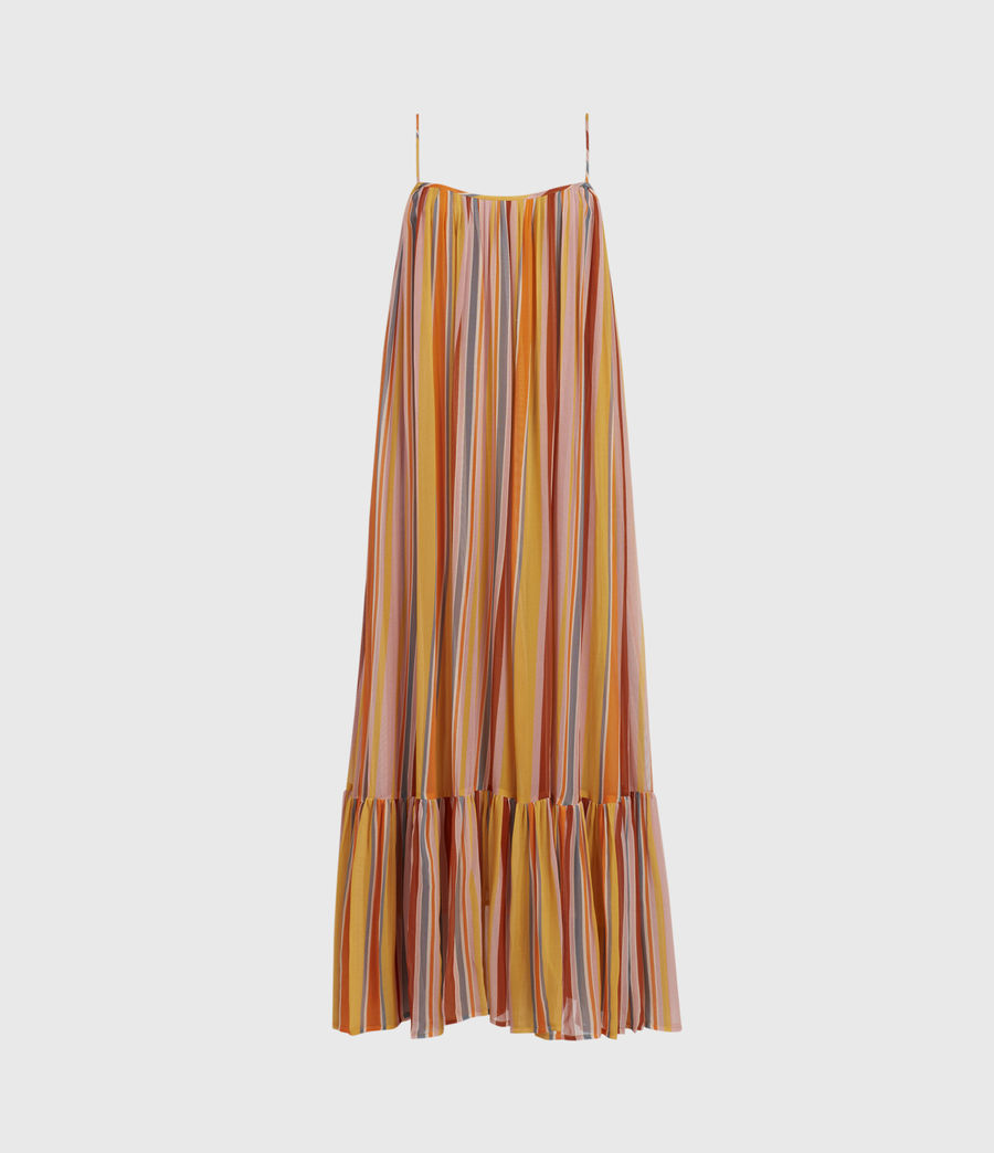 Womens Paola Stripe Dress (orange_pink) - Image 2
