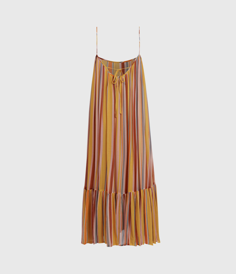 Womens Paola Stripe Dress (orange_pink) - Image 3