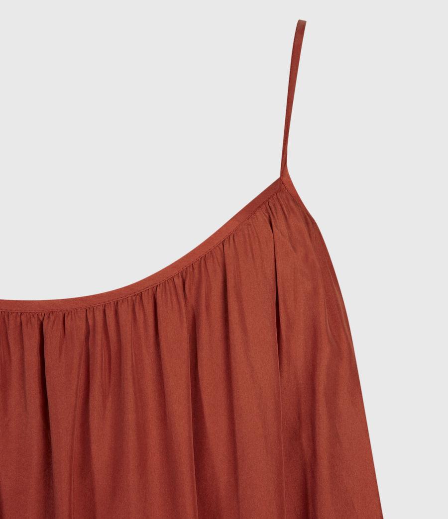 Damen Paola Seidenkleid (rust) - Image 3