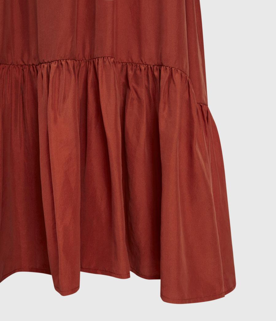Damen Paola Seidenkleid (rust) - Image 4
