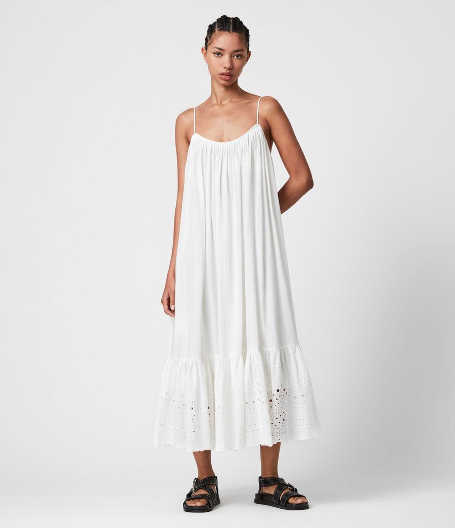 Damen Paola Baumwoll Kleid (chalk_white) - Image 1