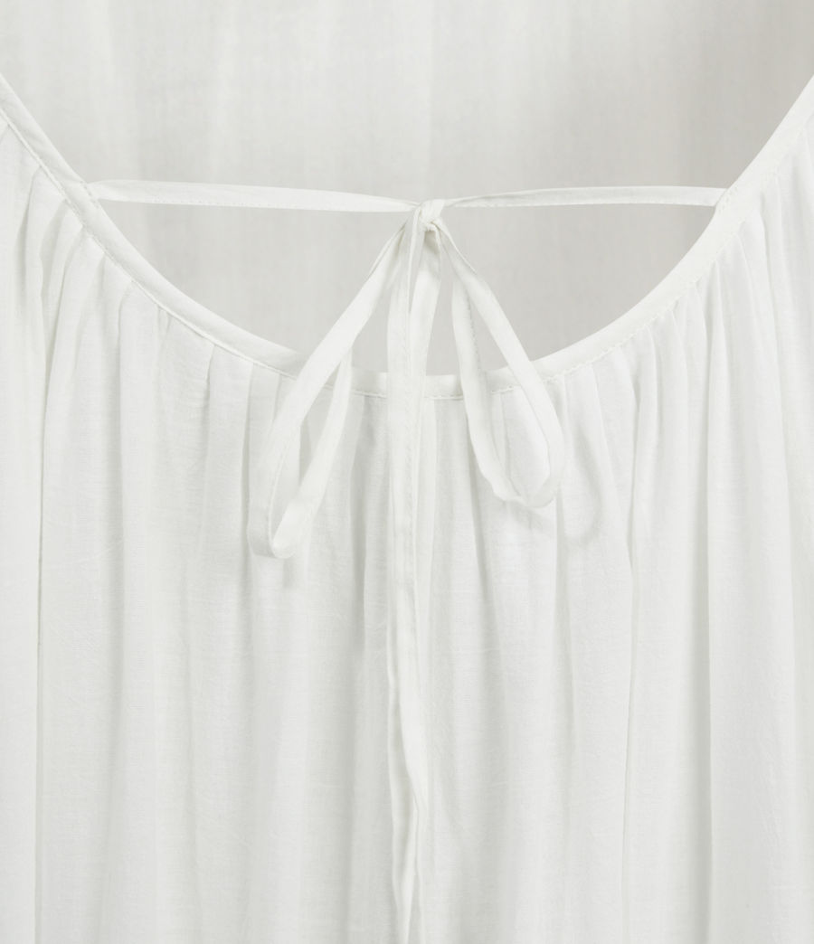 Womens Paola Cotton Dress (chalk_white) - Image 6