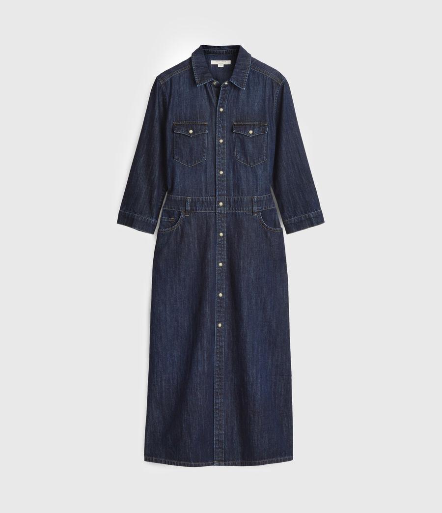 Women's Polly Denim Dress (dark_indigo_blue) - Image 6
