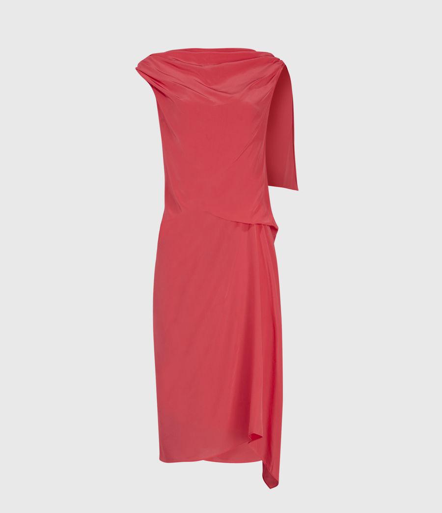 Womens Foy Silk Dress (roseland_pink) - Image 1