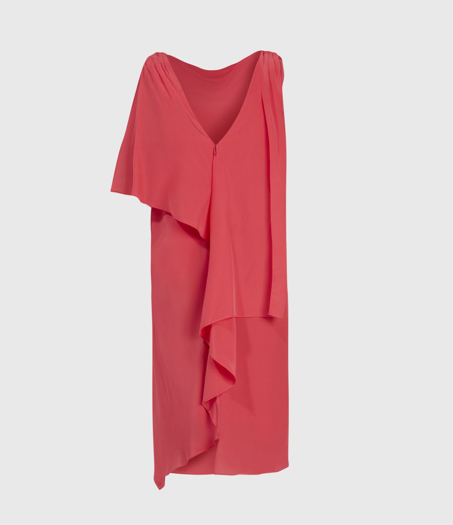 Womens Foy Silk Dress (roseland_pink) - Image 2