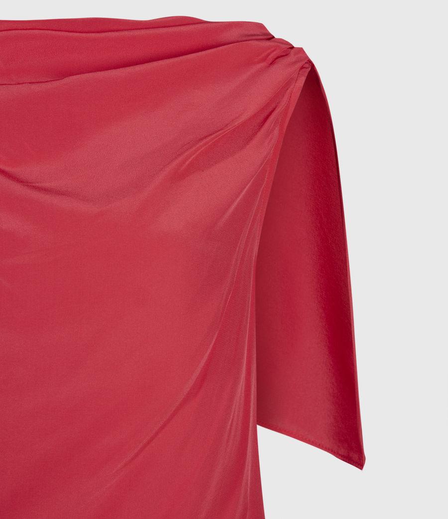 Womens Foy Silk Dress (roseland_pink) - Image 3