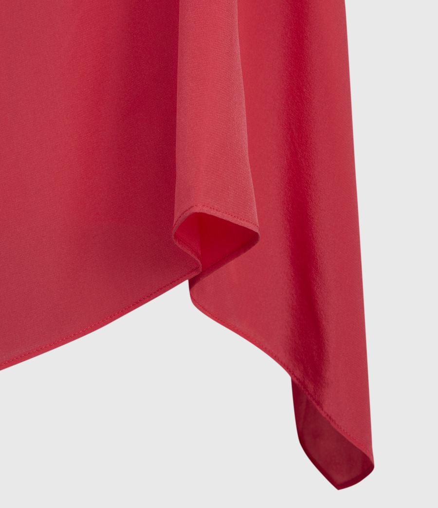 Womens Foy Silk Dress (roseland_pink) - Image 4