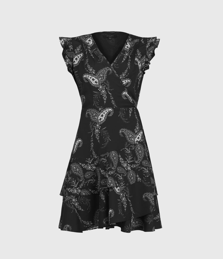 Womens Lani Kashmir Dress (black) - Image 2