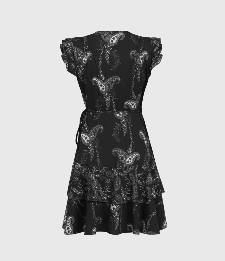 Womens Lani Kashmir Dress (black) - Image 3