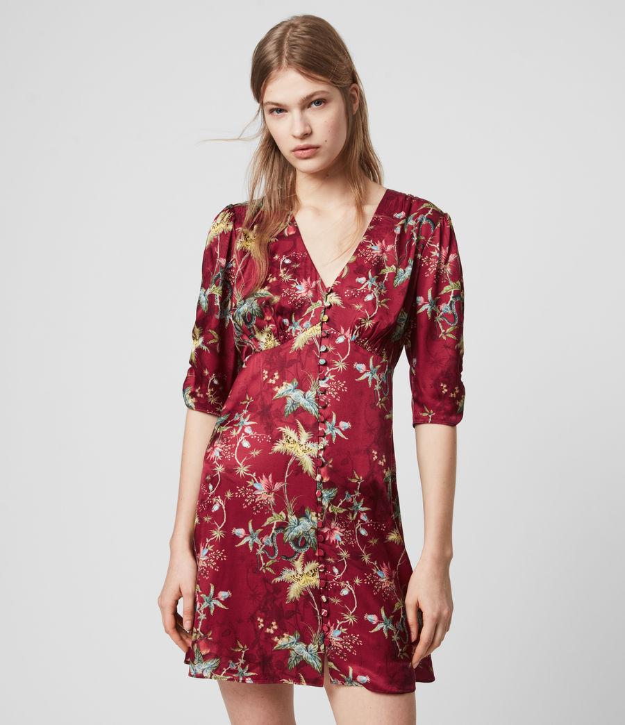 Womens Kota Silk Blend Evolution Dress (red) - Image 1