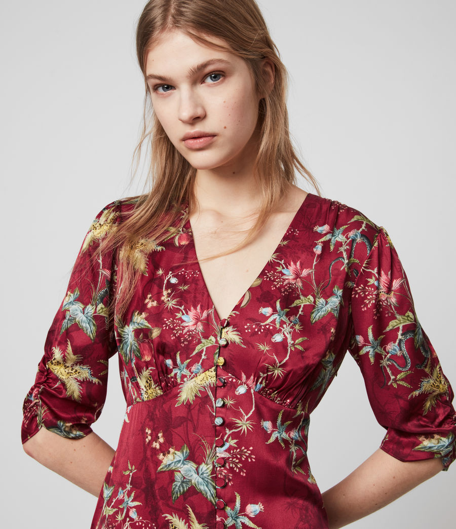 Womens Kota Silk Blend Evolution Dress (red) - Image 2