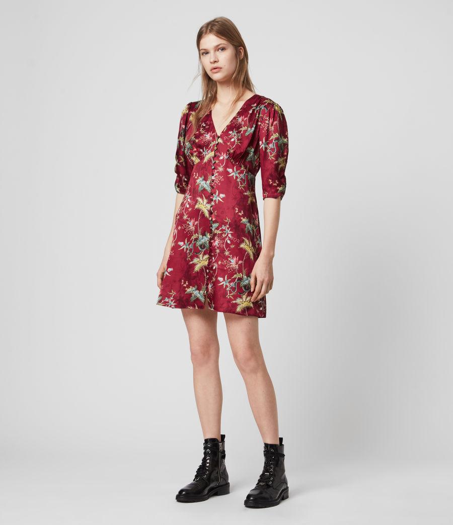 Womens Kota Silk Blend Evolution Dress (red) - Image 3