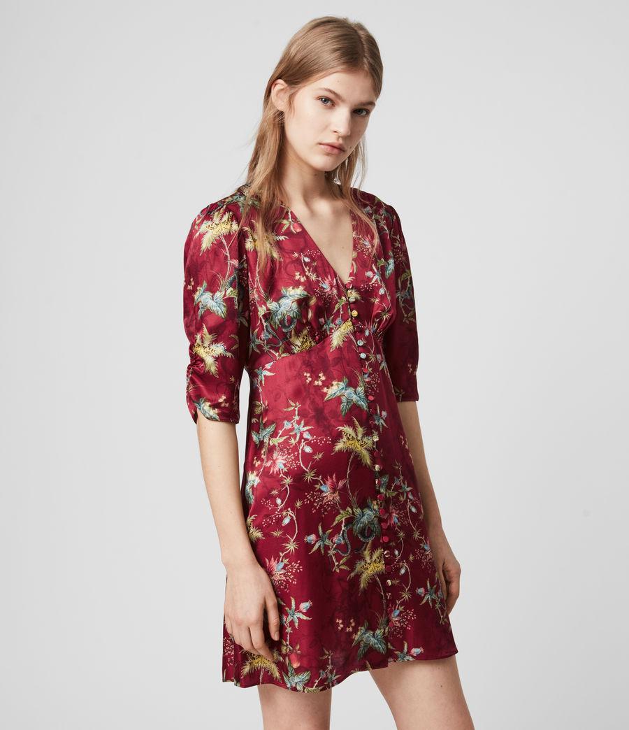 Womens Kota Silk Blend Evolution Dress (red) - Image 4