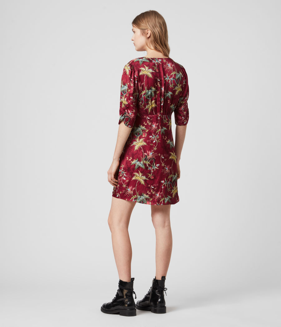 Womens Kota Silk Blend Evolution Dress (red) - Image 5