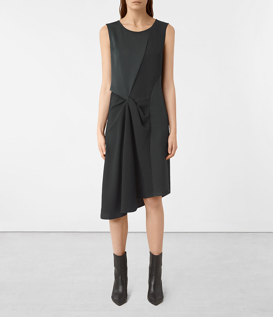 Women's Fern Dress (oil_black) - Image 1