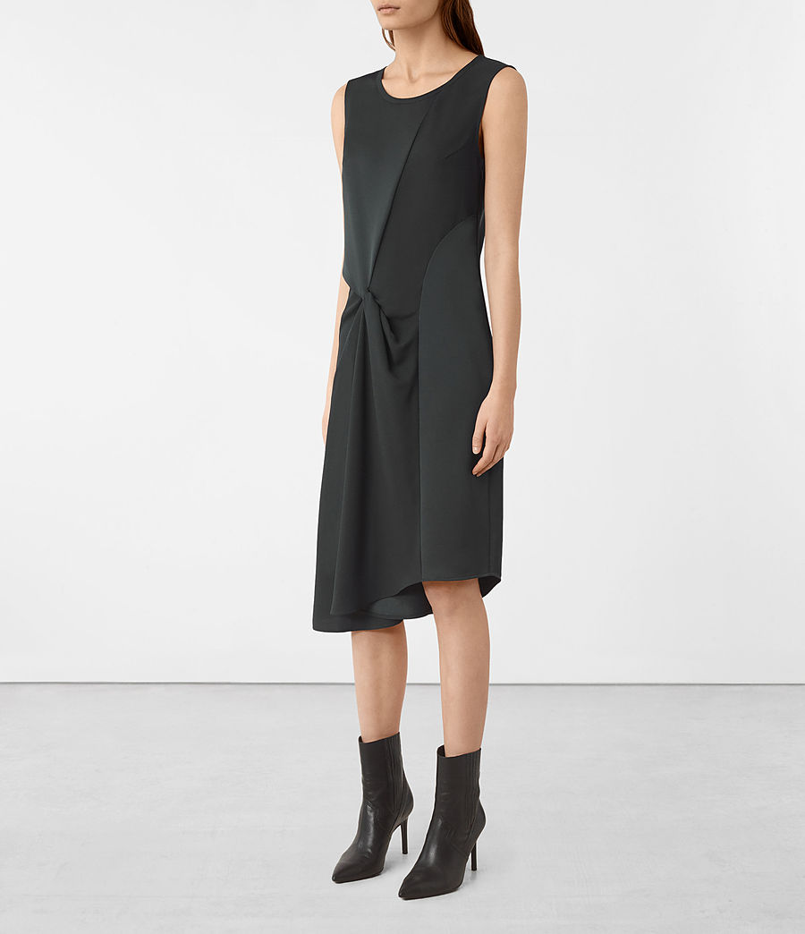 Women's Fern Dress (oil_black) - Image 2