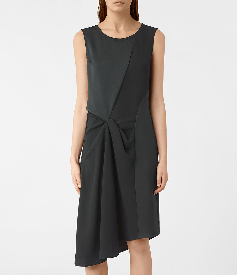 Women's Fern Dress (oil_black) - Image 4