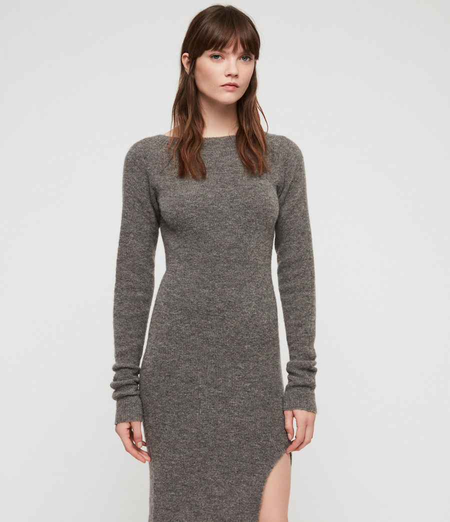 Womens Sedona Dress (charcoal_grey_marl) - Image 3