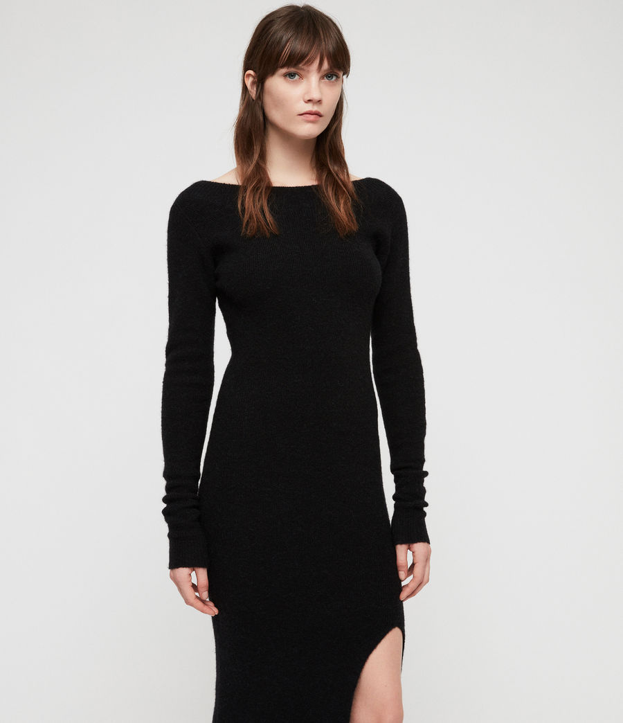 Womens Sedona Dress (black) - Image 3