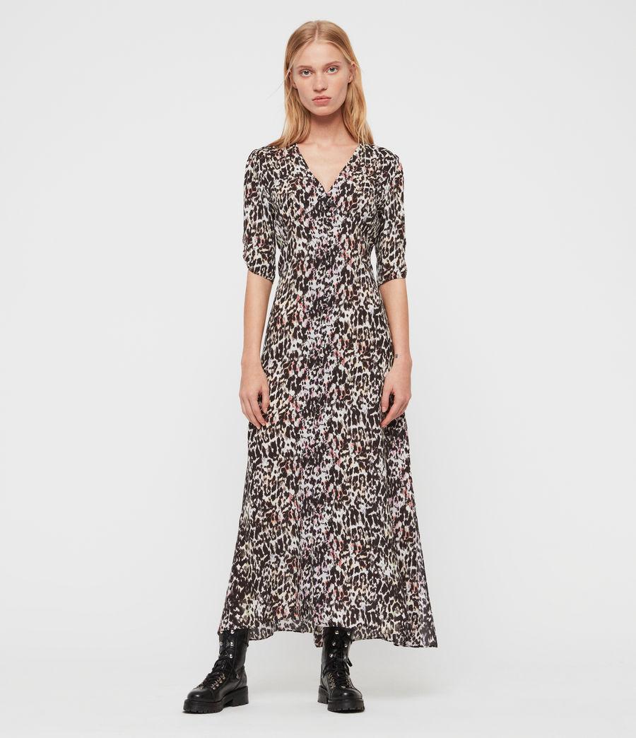 Women's Kota Leofall Long Dress (black_multi) - Image 1
