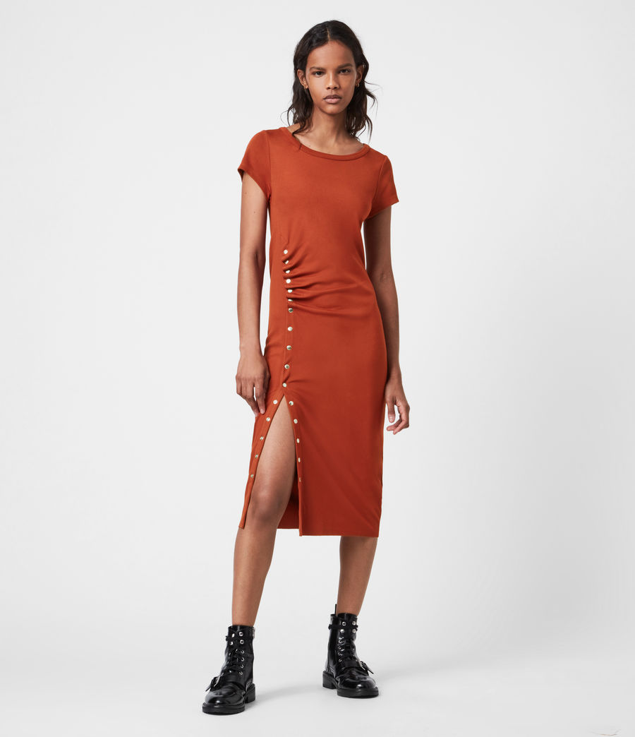 Women's Hatti T-Shirt Dress (arabian_spice_red) - Image 1