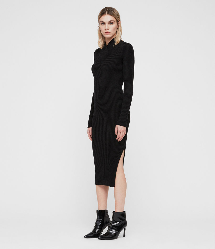Women's Vries Dress (cinder_black_marl) - Image 1