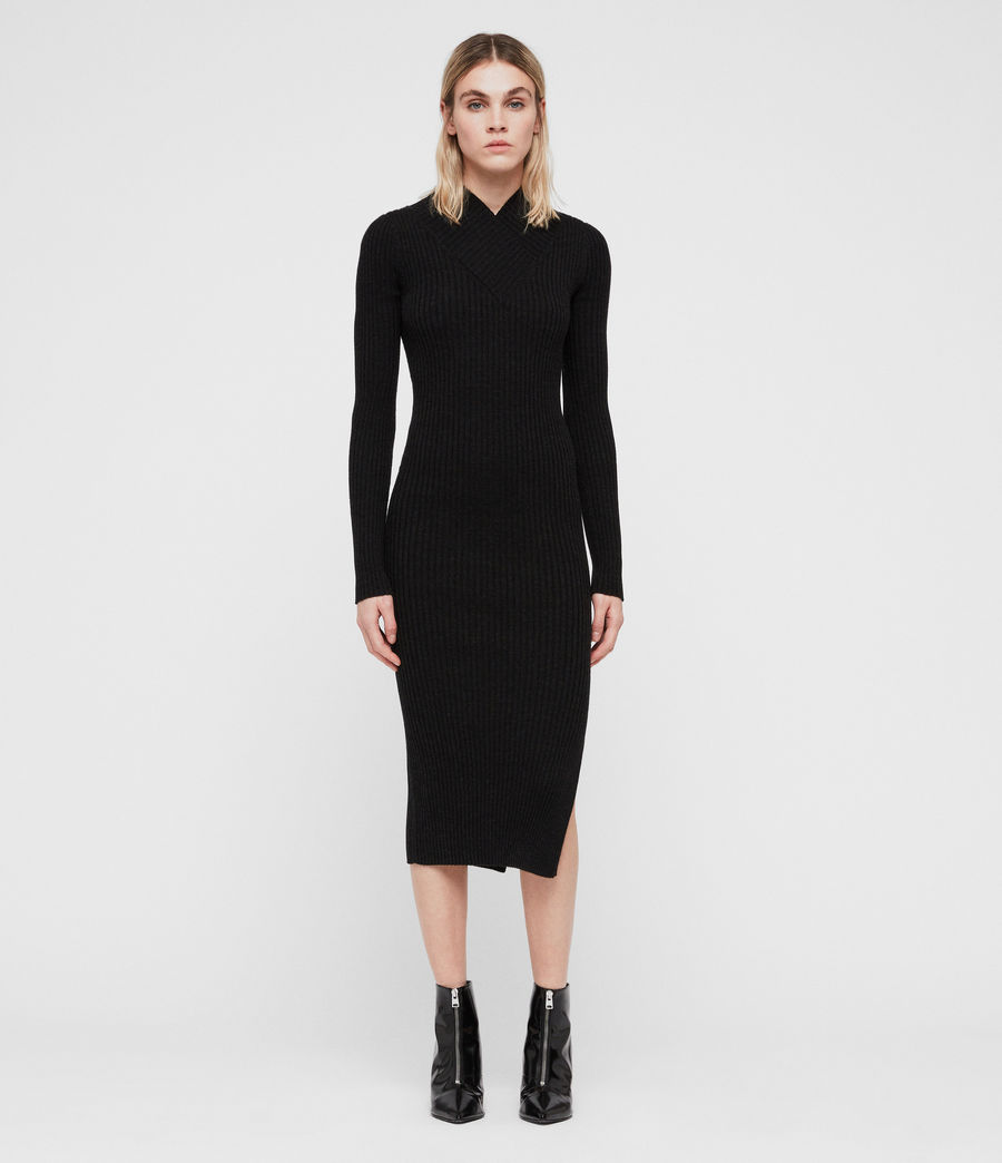 Women's Vries Dress (cinder_black_marl) - Image 3