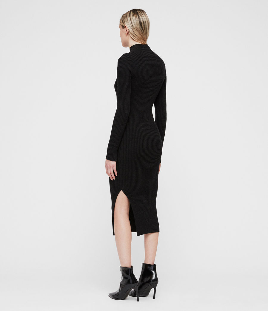 Women's Vries Dress (cinder_black_marl) - Image 6
