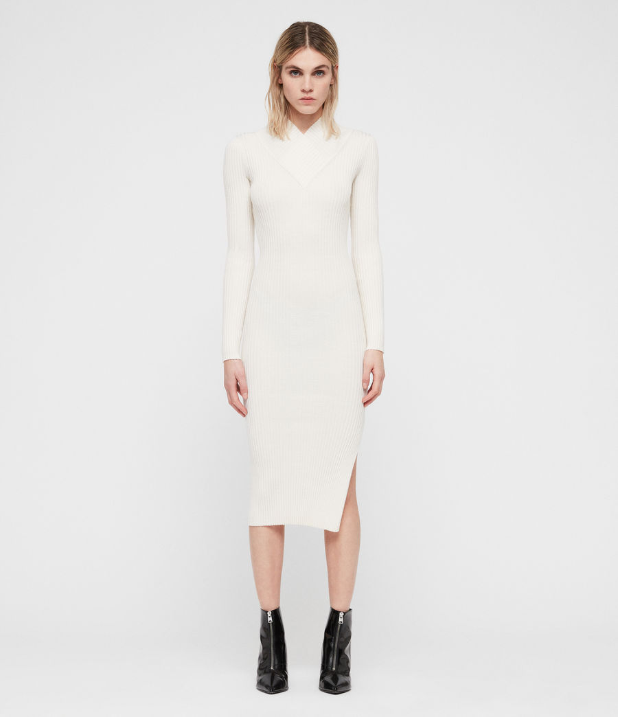 Womens Vries Dress (chalk_white) - Image 1