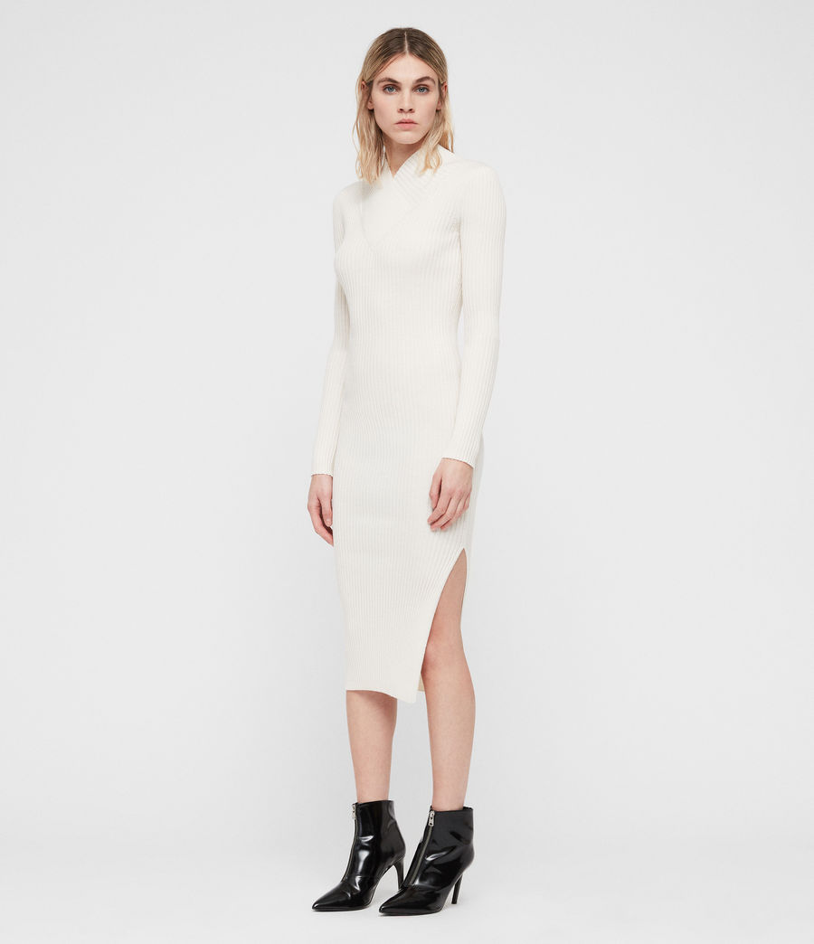 Womens Vries Dress (chalk_white) - Image 3