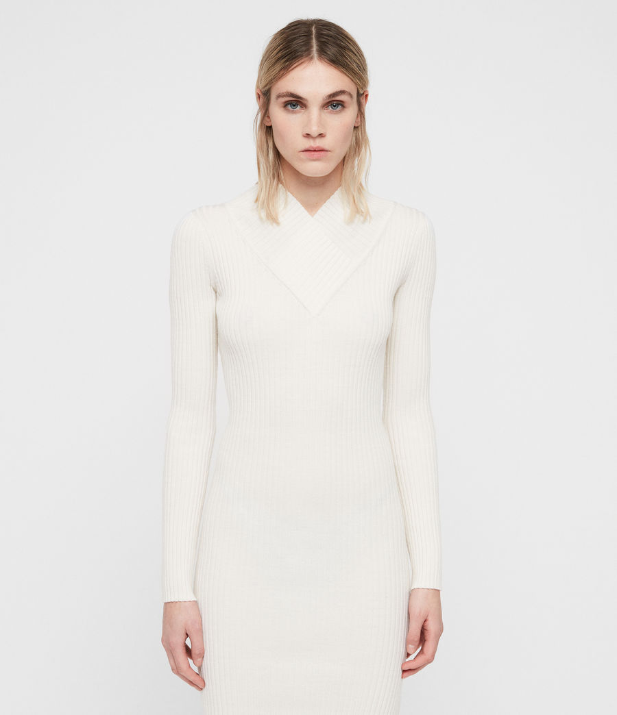Womens Vries Dress (chalk_white) - Image 4