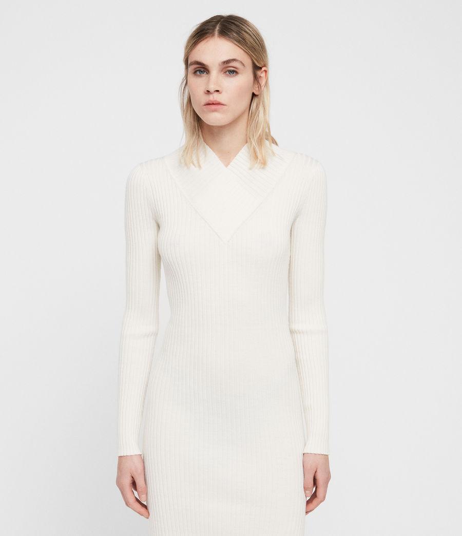 Femmes Robe Vries (chalk_white) - Image 5