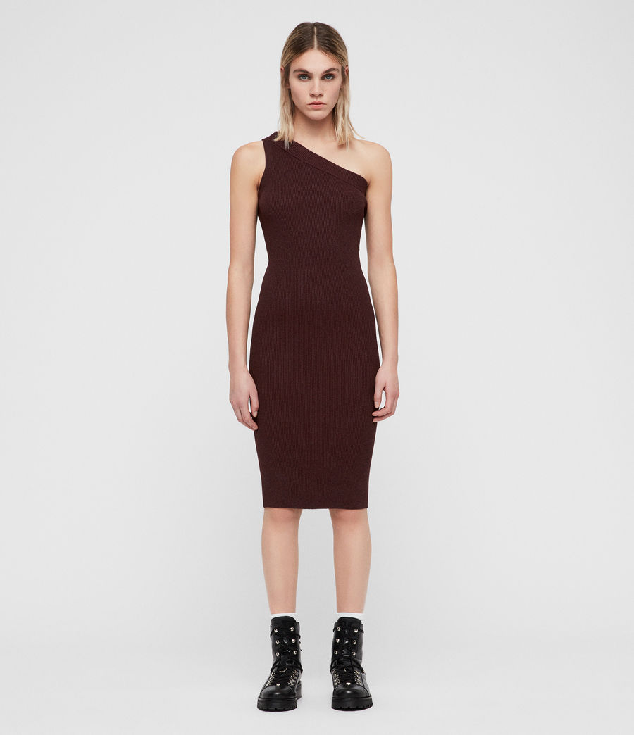 Mujer Chelle Dress (bordeaux_red_twist) - Image 3